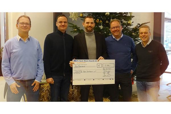 Weihnachts-Spende an die Lebenshilfe Bad Dürkheim e.V.