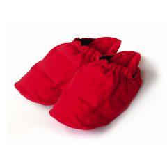 SISSEL Linum Relax Wärme-Schuh mit Leinsamenfüllung rot
